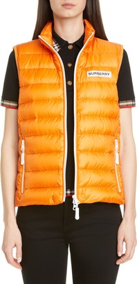 Burberry Darlington Logo Print Down Puffer Vest