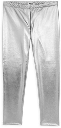 MIA New York Girl's Metallic Faux-Leather Leggings