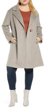 Fleurette One-Button Wool Coat