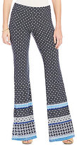 I.N. San Francisco Border Print Flare Leg Pants