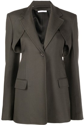 Peter Do Cut Out Back Blazer