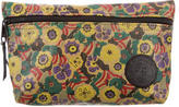 Carlos Falchi Leather Printed Cosmetic Pouch