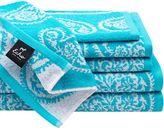 Echo Madira 6-Piece Cotton Jacquard Towel Set in Blue