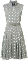 Akris squares print flared dress - women - Cotton/Viscose - 8