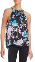 Diane von Furstenberg Lexi Floral-Print Stretch-Silk Halter Top