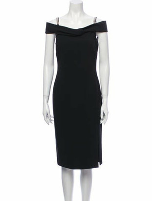 Emilio Pucci V-Neck Knee-Length Dress Black