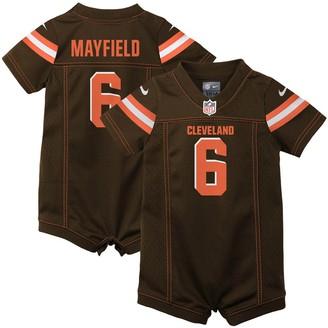 Nike Newborn & Infant Baker Mayfield Brown Cleveland Browns Romper Jersey
