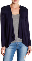 Cable & Gauge Draped Front Cardigan