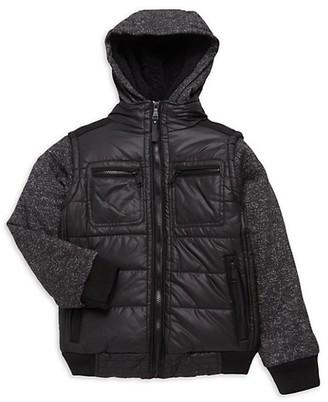 Urban Republic Boy's Matte Ciree Mixed-Media Jacket