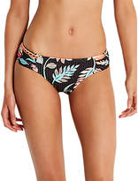 Seafolly Bali Hai Ruched Side Retro Bikini Briefs, Black/Multi