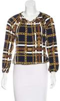 MICHAEL Michael Kors Abstract Print Long Sleeve Top