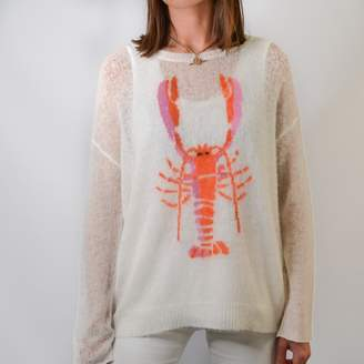 Wildfox Couture Willow & Wolf Marlborough Rock Lobster Jumper - small