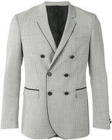 Tonello patterned double-breasted jacket - men - Cupro/Virgin Wool - 50