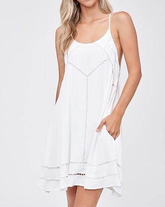 Express Emory Park Sleeveless Eyelet Mini Dress
