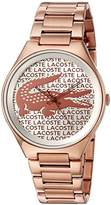 Lacoste Women's 2000929 Valencia Analog Display Japanese Quartz Rose Gold Watch