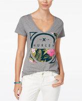 Hurley Juniors' V-Neck Graphic T-Shirt