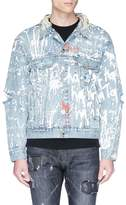 Haculla Paint splatter logo patch denim jacket
