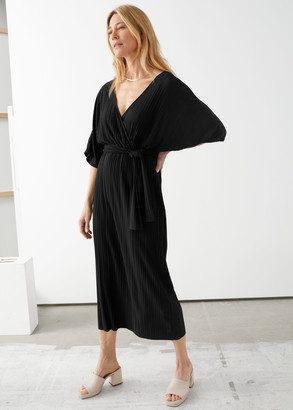 And other stories Belted Back Slit Maxi Dress