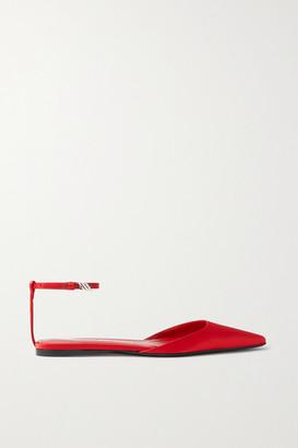 ATTICO Amber Satin Point-toe Flats - Red