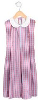 Papo d'Anjo Girls' Pleated Gingham Dress