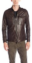 HUGO BOSS BOSS Orange Men's Soft Lamb Nappa Leather Field Jacket