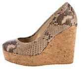 Jimmy Choo Pacita Embossed Wedges