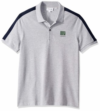 Lacoste Men's S/S Mini Pique Stripe Sleeve Slim Stretch FIT Polo
