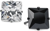 Thumbnail for your product : Sutton by Rhona Sutton Men's Two-Tone 2-Pc. Set Square Cubic Zirconia Stud Earrings