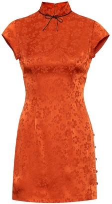 ALEXACHUNG Mandarin Maui silk-blend minidress