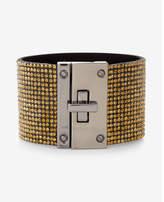 Express pave turnlock cuff bracelet