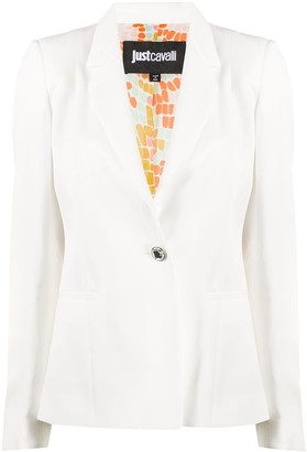 Just Cavalli single-breasted fitted blazer
