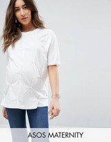 Asos T-Shirt in Oversized Fit with Pin Tuck Detail