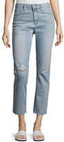AG Adriano Goldschmied Isabelle High-Rise Straight Cropped Jeans, Blue
