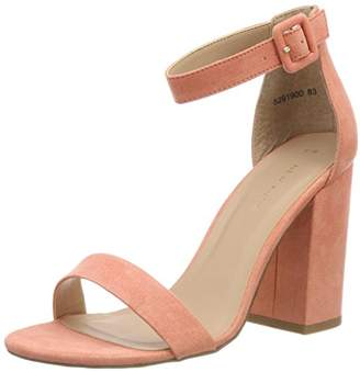 New Look Riches, Women's Ankle Strap Heels, Pink (Dark Coral 83), (39 EU)
