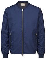 Selected Homme Classic Bomber Jacket, Dark Blue Melange