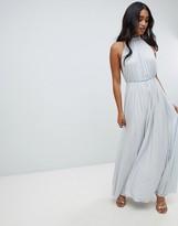 Asos Design DESIGN high neck pleated maxi dress