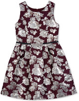 Amy Byer Floral-Print Pleated Dress, Big Girls (7-16)