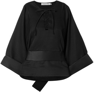 CHRISTOPHER ESBER Lattice cuffed blouse