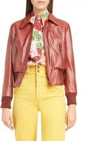 Marc Jacobs Runway Leather Bomber Jacket