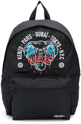 Kenzo Kids Elephant Motif Backpack