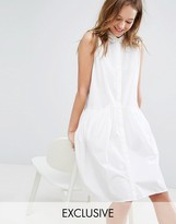 Monki Sleeveless Shirt Dress