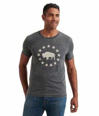 Lucky Brand Men's Short Sleeve Crew Neck Buffalo Tee Shirt