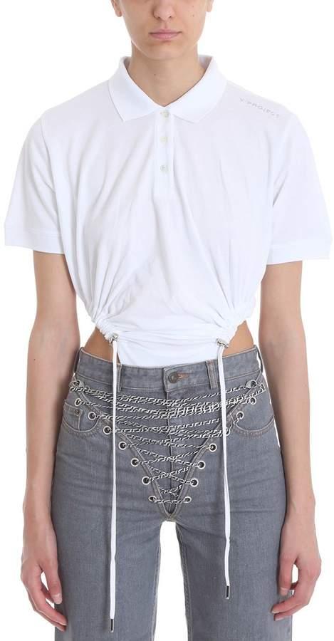 Y/Project White Cotton Polo Body