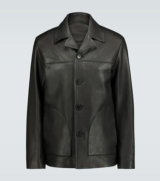 Acne Studios Lance oversized leather jacket