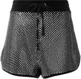 Juicy Couture Swarovski embellished velour shorts