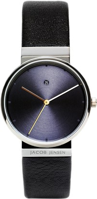 Jacob Jensen Womens Analogue Quartz Watch with Leather Strap 851