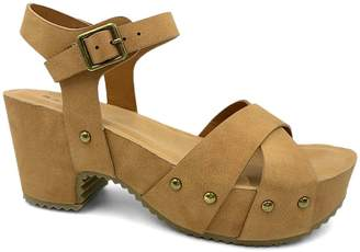 Bamboo Women's Sandals TAN - Tan Stud-Accent Course Sandal - Women