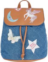 Monsoon Badge PU Backpack