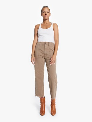 Mother The Patch Pocket Zip Private Ankle Fray - Toasted Brown