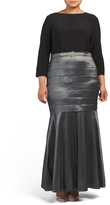 Plus Fitted Skirt Gown